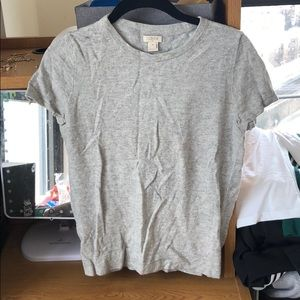J. Crew extra small short sleeve gray sweater